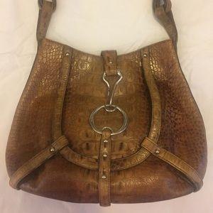 Leather DKNY handbag